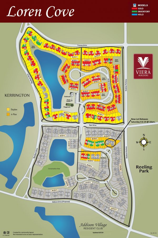 Loren Cove South Lot Release Map Viera FL 2019